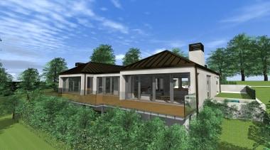 27 mds design 3 felton - Mds Design architecture, cottage, elevation, estate, facade, farmhouse, home, house, landscape, property, real estate, residential area, villa, green, teal