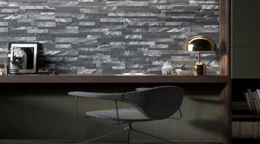 Gioia Nero 150x610 - Gioia Nero 150x610 - architecture, black and white, floor, flooring, furniture, interior design, table, tile, wall, wallpaper, black, gray