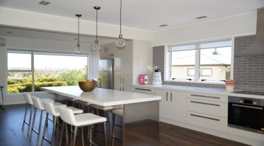 Sleek And Stylish - Sleek And Stylish 5 countertop, cuisine classique, interior design, kitchen, property, real estate, room, gray