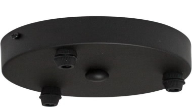 FeaturesThis accessory is a ceiling pan with 3 hardware, product design, black, white