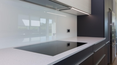 For more information, please visit Poggenpohl New architecture, countertop, daylighting, glass, house, interior design, kitchen, product design, sink, gray