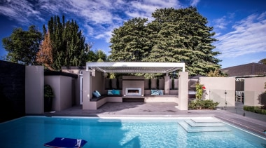 Silencio Rotating Louvres - architecture | backyard | architecture, backyard, estate, family car, home, house, property, real estate, residential area, swimming pool, villa, blue