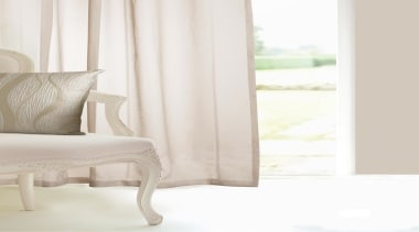 Harmony - chair | curtain | cushion | chair, curtain, cushion, floor, furniture, interior design, living room, product, table, textile, window, window covering, window treatment, wood, white