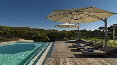 Riviera Cantilever Umbrella - estate | home | estate, home, house, leisure, outdoor furniture, property, real estate, shade, sunlounger, swimming pool, umbrella, vacation, brown