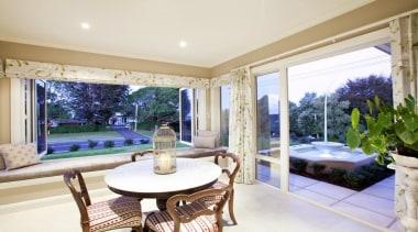 Garden room with outside view - Landmark Design estate, home, interior design, living room, property, real estate, window, white