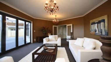 White and brown lounge in Rotoit - Landmark ceiling, estate, home, interior design, living room, property, real estate, room, brown, gray