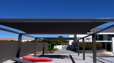 Leighs Sails - canopy | outdoor structure | canopy, outdoor structure, roof, shade, sky, black, blue