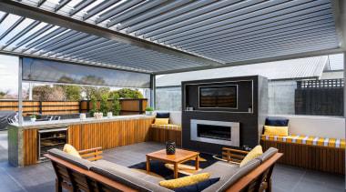 Silencio Rotating Louvres - interior design | outdoor interior design, outdoor structure, patio, real estate, roof, gray, black