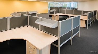 Plus3 offers optimum adaptability and its lightweight construction desk, floor, flooring, furniture, office, black
