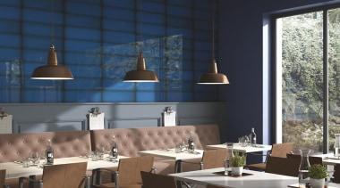 Slide Ocean 100x300 - ceiling | interior design ceiling, interior design, light fixture, restaurant, table, black