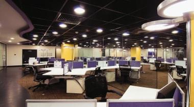 Lively, ergonomic office interiors create a stimulating work ceiling, interior design, office, black