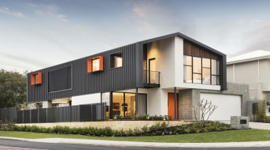 Highly Commended – Residential Attitudes – 2018 TIDA architecture, building, elevation, facade, home, house, property, real estate, residential area, white