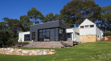 Highly Commended – Alex Urena Design Studio – architecture, cottage, elevation, estate, facade, farmhouse, home, house, landscape, property, real estate, siding, brown