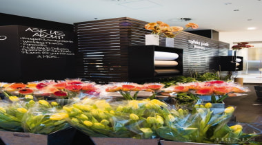 The Sylvia Park Flower Shop was fitted out flora, floral design, floristry, flower, flower arranging, flowering plant, plant, spring, black
