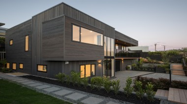 Highly Commended – Michael Cooper Architects – TIDA architecture, building, elevation, facade, home, house, property, real estate, residential area, siding, gray, black