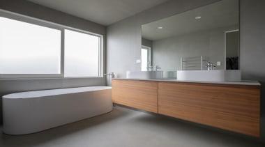 Matisse – Highly Commended – TIDA New Zealand architecture, bathroom, floor, interior design, room, sink, gray