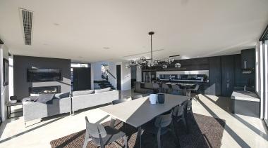 GJ Gardner Homes Christchurch North / AG & apartment, architecture, building, ceiling, floor, furniture, home, house, interior design, living room, loft, property, real estate, room, gray