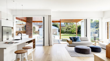 Bijl Architecture – Highly Commended – 2019 TIDA architecture, building, ceiling, coffee table, door, floor, flooring, furniture, home, house, interior design, living room, property, real estate, room, table, window, wood flooring, white