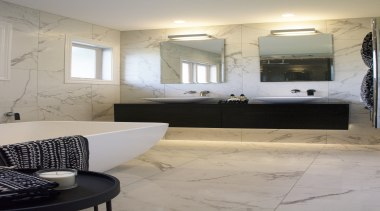 Design Haus – Highly Commended – TIDA New bathroom, ceiling, floor, flooring, home, interior design, room, sink, basin, tile, wall, gray, vanity