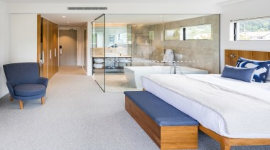 Wilson & Hill Architects – Winner – 2019 architecture, bed, bed frame, bed sheet, bedroom, building, comfort, floor, furniture, house, interior design, mattress, property, real estate, room, suite, table, white, gray