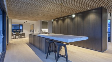 Highly Commended – Leonie Metge – Cube Dentro architecture, building, ceiling, design, floor, flooring, furniture, glass, home, house, interior design, office, property, real estate, room, table, gray