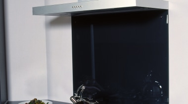 view of the oven and rangehood from Alu.Design home appliance, kitchen appliance, kitchen stove, product design, gray, black