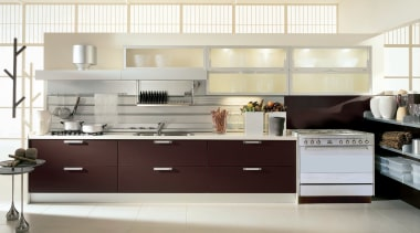 view of a kitchen design - view of cabinetry, countertop, cuisine classique, floor, furniture, interior design, kitchen, product design, room, white