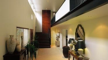 entranceway of house designed by Modern Architecture Partners ceiling, estate, floor, flooring, home, interior design, lobby, real estate, brown