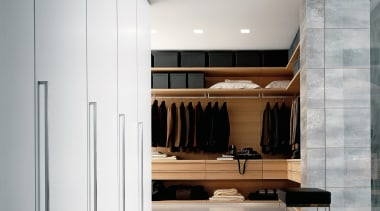 View of this hall - View of this architecture, ceiling, floor, furniture, interior design, product design, wardrobe, gray