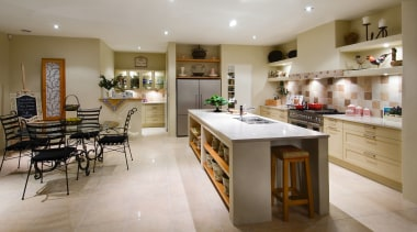A view of a kitchen by Fyfe Kitchens. countertop, cuisine classique, interior design, kitchen, room, gray, brown