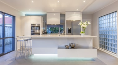 Minimalist new kitchen by Fyfe Kitchens - Minimalist ceiling, estate, home, interior design, kitchen, living room, property, real estate, room, gray