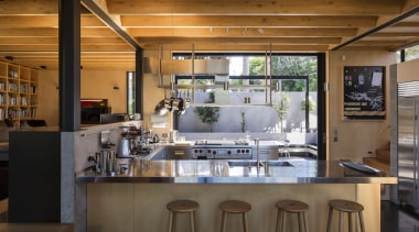 This kitchen in a new home takes centre interior design, kitchen, brown