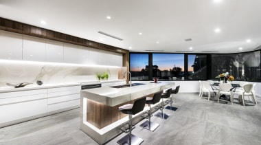 This panoramic window and the kitchens scullery wall interior design, kitchen, white