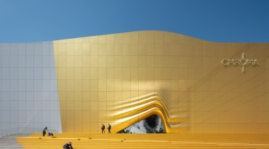 0994 architecture, daylighting, daytime, facade, line, sky, sunlight, wall, yellow, orange