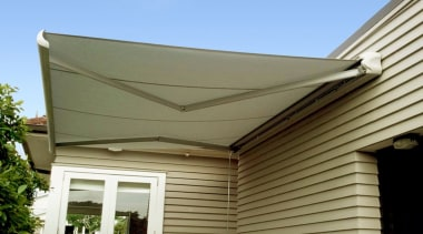 Johnson & Couzins' fully enclosed, upmarket Cabriolet Retractable awning, daylighting, facade, real estate, roof, shade, siding, brown, teal