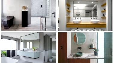 2019 TIDA Australia Bathroom winners - 2019 TIDA architecture, bathroom, bathroom accessory, bathroom cabinet, building, ceiling, door, floor, flooring, furniture, home, house, interior design, material property, plumbing fixture, product, property, room, tile, white, gray
