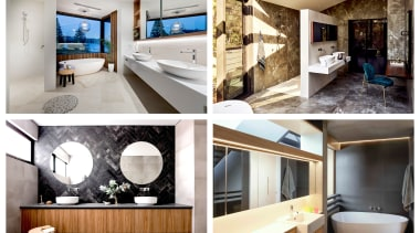 2019 TIDA Australia Bathroom Suites finalists architecture, bathroom, building, ceiling, furniture, home, house, interior design, property, room, wall, white