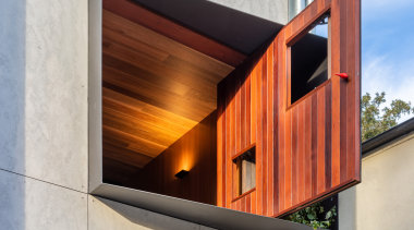 4 WELCOME TO THE JUNGLE HOUSE - architecture architecture, balcony, building, concrete, design, facade, glass, home, house, interior design, line, material property, orange, real estate, room, siding, wall, window, wood, gray