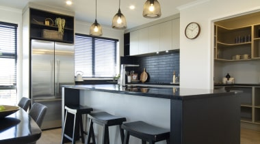 Check out here for more info www.gjgardner.co.nz countertop, cuisine classique, interior design, kitchen, real estate, room, white, black, gray