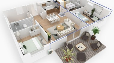 Multi-Zone Reverse Cycle SystemsHitachi Multi-Zone systems enable you apartment, architecture, building, design, drawing, floor, floor plan, home, house, interior design, mixed-use, plan, project, property, real estate, room, white