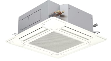 Ceiling Cassette Systems4-Way air flow Cassettes are an ceiling, ceiling fixture, light, lighting, product, room, white