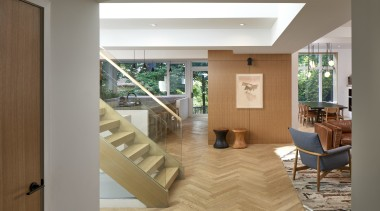 The interior of the house was originally subdivided