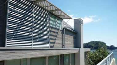 78580_louvretec-new-zealand-ltd_1556758086 - architecture   balcony   building   architecture, balcony, building, corporate headquarters, daylighting, facade, glass, home, house, material property, metal, property, real estate, residential area, siding, window, teal, black