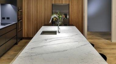 Half Moon Bay - architecture | countertop | architecture, countertop, floor, flooring, furniture, hardwood, interior design, kitchen, table, wood, wood flooring, gray, brown