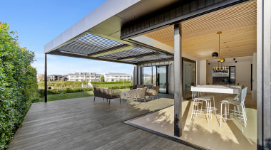 The views and outdoor living spaces go on gray