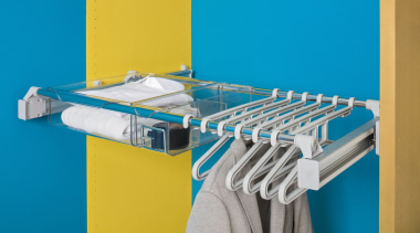 Innovative multi-purpose systemPull out wardrobe storage - order product, teal