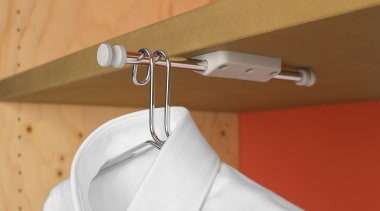 The Ambos Pull Out Mini Tube is a clothes hanger, plumbing fixture, tap, brown, orange