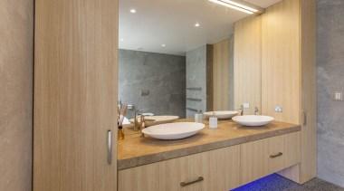 Bathroom Vanity 3 bathroom, bathroom accessory, bathroom cabinet, cabinetry, countertop, floor, interior design, room, sink, brown, gray