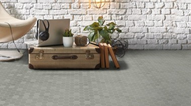 Beton Still Hex Mosaics are full-bodied porcelain, suitable floor, flooring, furniture, hardwood, interior design, laminate flooring, living room, table, tile, wall, wood, wood flooring, gray, white
