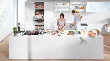 Blum New Zealand Header Hero furniture, interior design, kitchen, kitchen appliance, product, product design, table, white